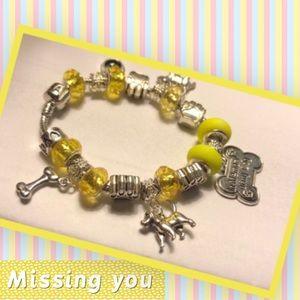 """💛NEW🐶SP 925 """"In Memory of my Dog"""" Bracelet 🐶💛"""